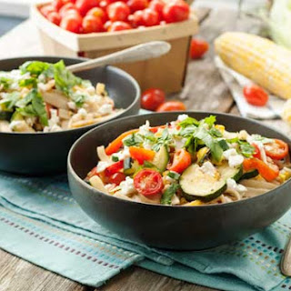 Gluten Free Grilled Summer Vegetable Pasta