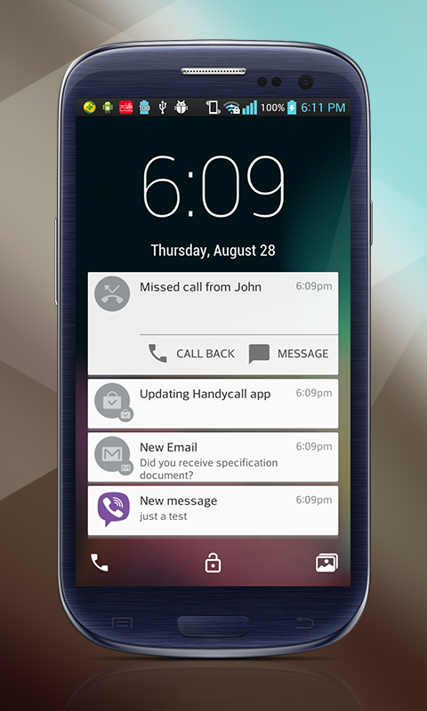 Lollipop Lockscreen Android L Screenshot 1
