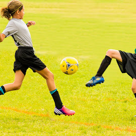by Jeff Whiteside - Sports & Fitness Soccer/Association football ( family, action, zac, soccer )