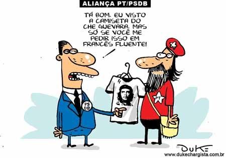 Resultado de imagem para A CARTA AOS BRASILEIROS NO PSDB: charges