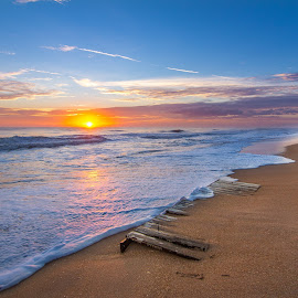 Vilano Gold by Jason Green - Landscapes Beaches ( sunsets, vilano, beach, surf, st augustine )