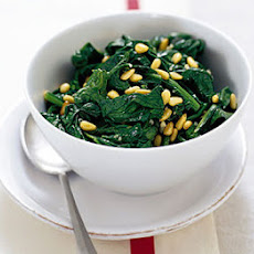 Spinach With Pine Nuts & Garlic