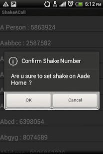 Shake To Call - screenshot