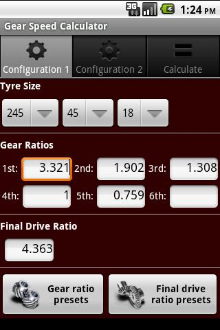 Gear Speed Calculator
