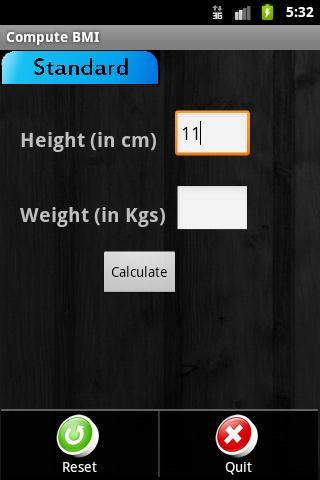 Ad Free BMI Calculator