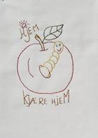syglads eple med en fornøyd mark