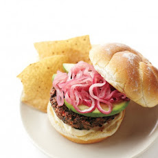 Black-Bean Burgers with Pickled Onions