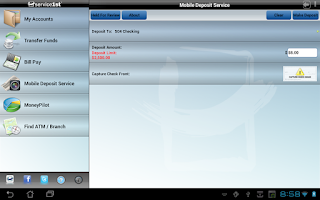 Screenshot of Service 1st Mobile Tablet