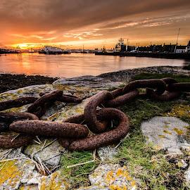 Old Chain by Marek Kargier - Landscapes Sunsets & Sunrises
