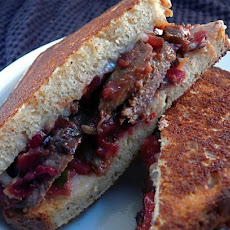 Grilled Steak Sandwich With Poblano Cranberry Chutney