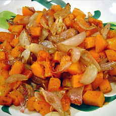 Roasted Butternut Squash and Shallots