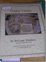 ByGone Stitches Quaker Virtues