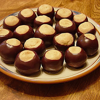 Peanut Butter-Chocolate Buckeyes