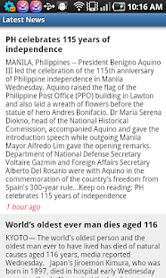 PinoyNews - screenshot