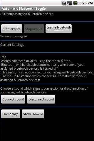 Automatic Bluetooth Toggle