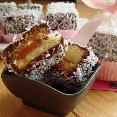 Blood Orange Lamingtons