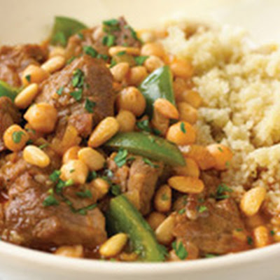 Lamb with Chickpeas, Green Peppers, and Couscous