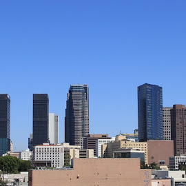 Downtown Los Angeles by Brandon Hunsinger - City,  Street & Park  Skylines ( downtown los angeles, los angeles )
