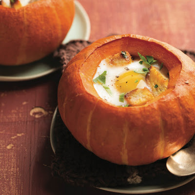 Baked Mini Pumpkin Pots