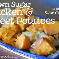 Slow Cooked Brown Sugar Chicken and Sweet Potatoes – 4 ingredients!