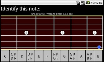Screenshot of RR Guitar Fretboard Trainer