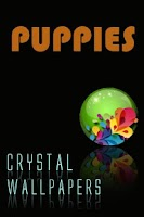 Screenshot of Crystal Puppies Wallpapers
