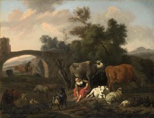 RIJKS: Dirck van Bergen: painting 1690