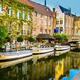 Bruges by Mihai Popa - City,  Street & Park  Street Scenes ( belgia, bruges )
