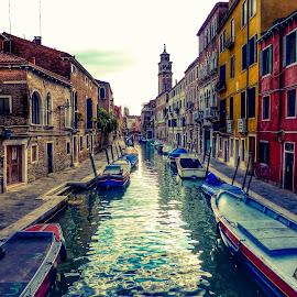 Venice by Drekas Morengo - City,  Street & Park  Street Scenes ( venice, italy )