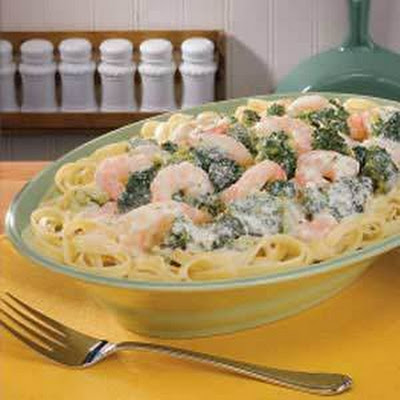 Broccoli Shrimp Alfredo