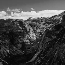 by Ken Wade - Landscapes Mountains & Hills ( half dome, black and white, yosemite, ansel adams tribute,  )