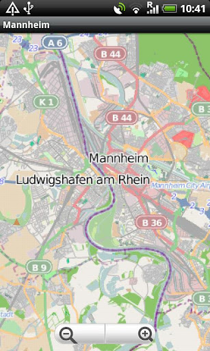 Mannheim Heidelberg Street Map