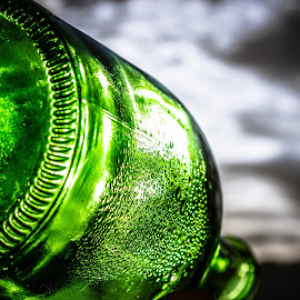 The morning after by Denise Johnson - Artistic Objects Glass ( condensation, green, sunrise, morning, bottle )