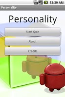 Screenshot of Personality Lite (1.5)