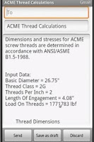 Screenshot of ACME Thread Calculation