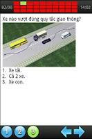 Screenshot of 450 câu lý thuyết sát hạch ôtô