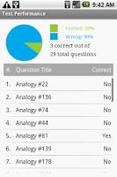 Screenshot of GRE Analogy Ace Exam Prep
