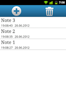 Screenshot of Qnote - simple notepad