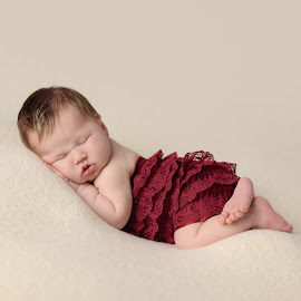 Sleeping Beauty by Michelle McClafferty - Babies & Children Babies ( tushie pose, michelle mcclafferty photography, sleeping newborn, raleigh photographer, newborn )