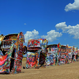 Cadillac Ranch by Hylas Kessler - Transportation Automobiles
