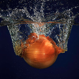 Onion Splash2 by Troy Wheatley - Food & Drink Fruits & Vegetables ( salad, organic, vegetables, healthy, onion )