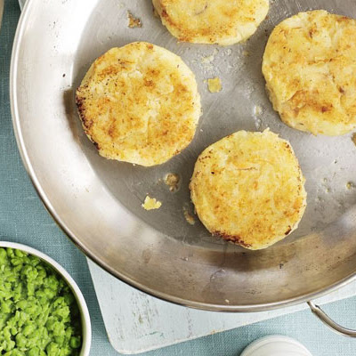 Smoked Trout Fish Cakes With Mushy Peas