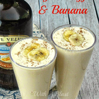 English Toffee and Banana Milkshake