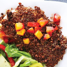 Quinoa-Crusted Fish with Plum Chutney