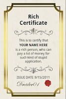 Screenshot of Rich Certificate