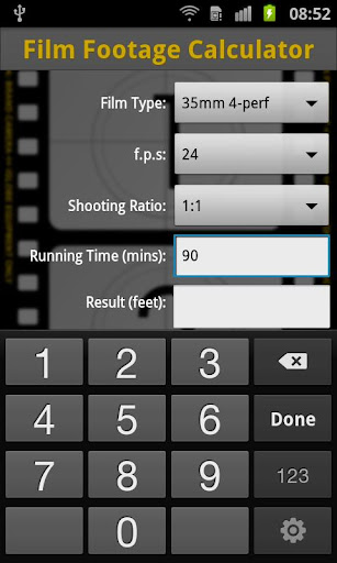 工具必備APP下載|Film Footage Calculator 好玩app不花錢|綠色工廠好玩App