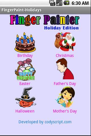 Finger Painter - Holidays