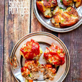 Turkey Meatloaf Bites with Roasted Veggies & Chipotle Glaze