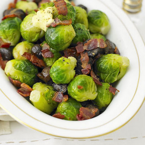 My Kids Love Stir Fried Sprouts, Bacon and Chestnuts