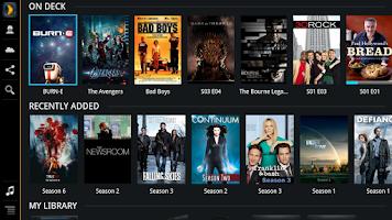 Screenshot of Plex for Sony Internet TV